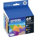 Epson 69 Black and Color Ink Cartridges (T069120-BCS), 4/Pack