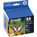 Epson 88 Black and Color Ink Cartridges (T088120-BCS), Combo 4/Pack