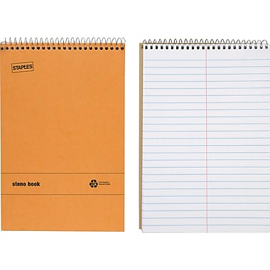 Staples® Recycled Steno Book, 6