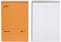 Staples® Recycled Steno Book, 6' x 9'