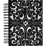 M by Staples™ Black with White Design 3-in-1 Hardcover 3-Subject Notebook, 8x 5 3/4, College Ruled