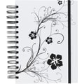 M by Staples™ White with Black Design 3-in-1 Hardcover 3-Subject Notebook, 8in.x 5 3/4in., College Ruled