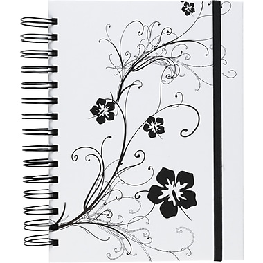 M by Staples™ Black & White 3-in-1,  Hardcover 3-Subject Notebooks, College Ruled