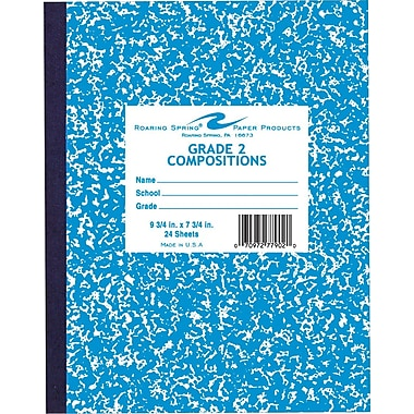 Roaring Spring Composition Book, Grade 2 Ruled, Blue