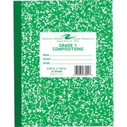 Roaring Spring Composition Book, Grade 1 Ruled, Green