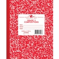Roaring Spring Composition Notebook, Grade 3 Ruled, Red