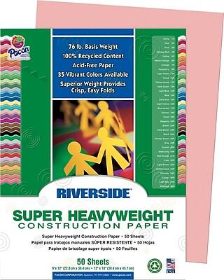 Riverside Construction Paper; 9 x 12 Salmon 50 Sheets