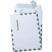 "Quality Park Self-Adhesive Tyvek USPS First Class Mailer Envelopes, #110, 14-lb., White, 9"" x 12"", 100/Bx"