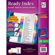 Avery Ready Index Multicolor Table of Contents Alphabetical Tab Dividers, A-Z