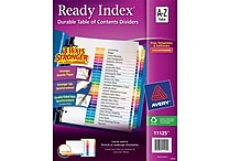 Avery® Ready Index® Multicolor Table of Contents Alphabetical Tab Dividers, A-Z