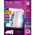 Avery® Ready Index® Multicolor Table of Contents Monthly Tab Dividers, 1-31