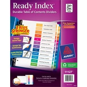 Avery Ready Index Multicolor Table of Contents Monthly Tab Dividers, Jan-Dec.