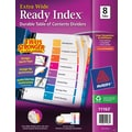 AveryExtra-Wide Table of Contents Dividers, Multicolor, 8-Tab