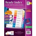 Avery® 8-Tab Ready Index® Multicolor Table of Contents Dividers, 6 Sets/Pack