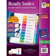 Avery® 10-Tab Ready Index® Multicolor Table of Contents Dividers, 6 Sets/Pack