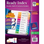 Avery, Multicolor, 10-Tab Ready Index Table of Contents Dividers, 6 Sets/Pack