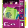 Avery® Multicolored Plastic Insertable Tab Dividers, 8-Tab