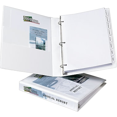 1in. Avery® Heavy-Duty View Binder with One Touch Slant-D™ Rings, White