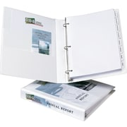 1 Avery® Heavy-Duty View Binder with One Touch Slant-D™ Rings, White