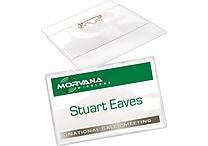Avery® Top Loading Pin Style Name Badges, 2 1/4' x 3 1/2'