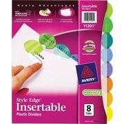Avery® Style Edge™ Insertable Plastic Dividers