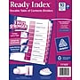 Avery® 10-Tab Ready Index® Multicolor Table of Contents