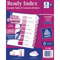 Avery® 8-Tab Ready Index® Multicolor Table of Contents Dividers, 24 Sets/Pack