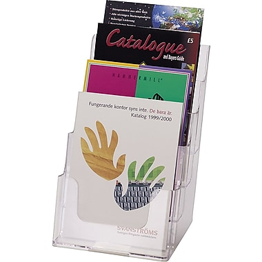 Deflect-o® Four-Tier Desktop Literature Holder, Clear
