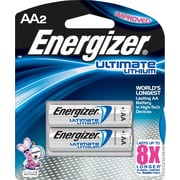 Energizer® e² Lithium Batteries, AA, 2/Pack