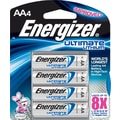 Energizer e² Lithium Batteries, AA, 4/Pack