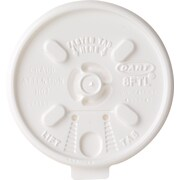 Dart® Plastic Lids, White, 1,000/Ct
