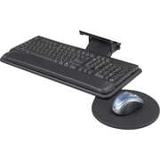 "Safco® Adjustable Keyboard Platform With Swivel Mouse Tray, Black, 18 1/2""(W) x 9 1/2""(D)"