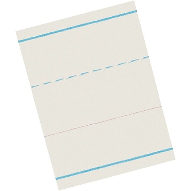Pacon® Ruled Newsprint for Zaner-Bloser Programs; Kindergarten Level, 1-1/8x9/16in. Rule Width