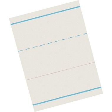 Pacon® Ruled Newsprint for Zaner-Bloser Programs; Kindergarten Level, 1-1/8x9/16in. Rule Width