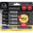 Quartet EnduraGlide Fine Tip Dry-Erase Markers, Black, 4/Pack