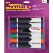 Staples Remarx™ Gripped Dry-Erase Markers, Chisel Tip, Assorted, 6/Pack (19151)