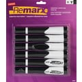 Staples® Remarx™ Gripped Dry-Erase Markers, Chisel Tip, Black, 6/Pack