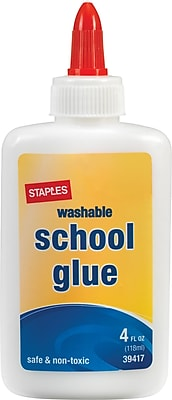 Staples School Glue 4 oz. Each 39417