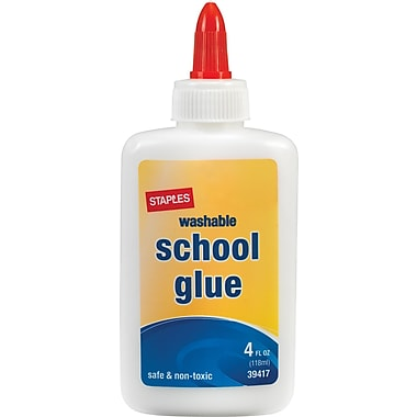 Staples School Glue, 4 oz., Each (39417)