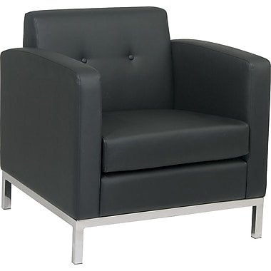 Avenue Six Wall Street Chair, Black