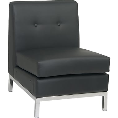 Avenue Six Wall Street Armless Chair, Black