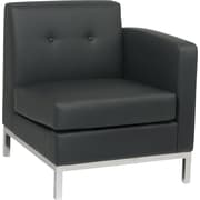 Avenue Six Wall Street Left Arm Facing Chair, Black
