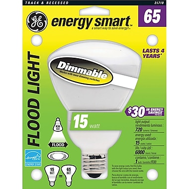 15 Watt GE R-30 Dimmable Floodlight, Soft White