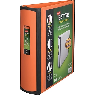 2in. Staples® Better® View Binder with D-Rings, Orange
