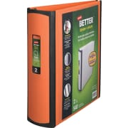 2 Staples® Better® View Binder with D-Rings, Orange