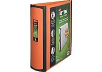 Staples Better 2-Inch Slant D 3-Ring View Binder, Orange (13469)