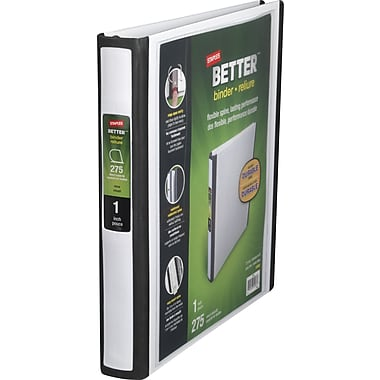 1in. Staples® Better® View Binder with D-Rings, White