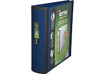 2' Staples® Better® View Binder with D-Rings, Blue