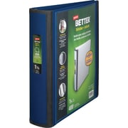 1-1/2 Staples® Better® View Binders with D-Rings, Blue