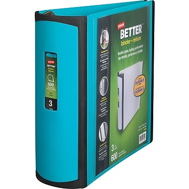 3in. Staples® Better® View Binder with D-Rings, Teal